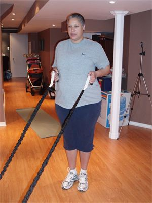 Standing Row Strengthen the Upper Back Ladies!