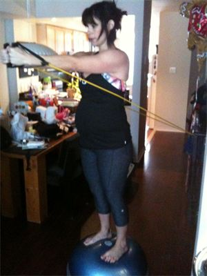 3rd Trimester BOSU Reverse Cable Flys
